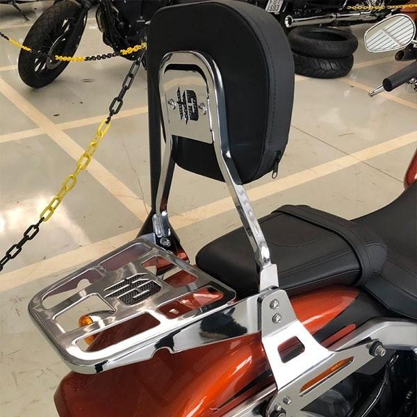 Sissy Bar - Modelo Tubular e Destacável com Kit Dockings - HD Fat Boy 2018 à 2020 - Cromado - 007/28002