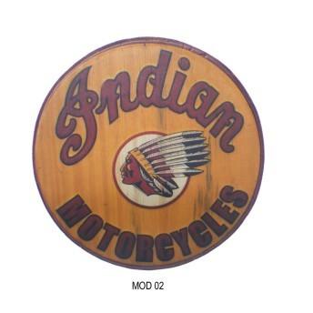 Tábua Decorativa em Madeira - Redonda - Diversos Modelos - 034/66000
