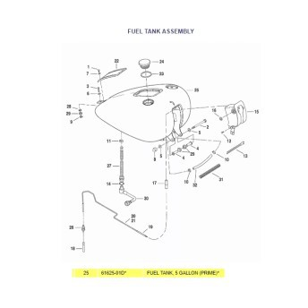 Tanque de Combustível - 18 Litros - HD Softail FX - 003/63605