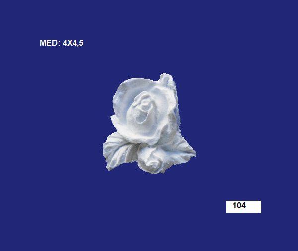 104 BOTAO ROSA C/ FOLHA 04X4,5CM