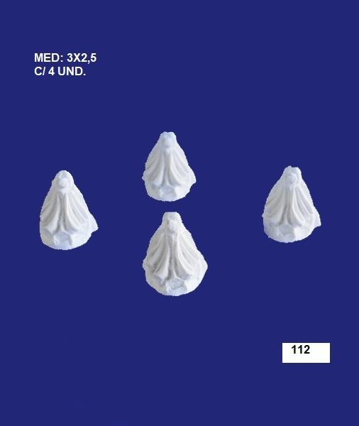 112 CONJUNTO DE CANTO 3X2,5 C/ 4 UND