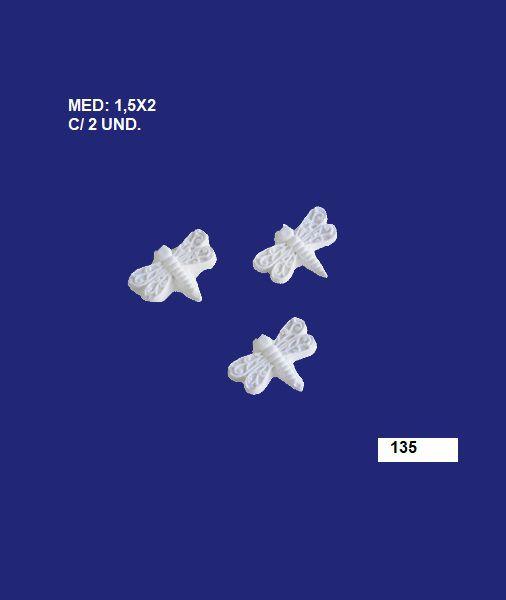 135 KIT MINI LIBÉLULA 1,5X02CM C/3 UND.