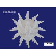 LLA-182 APLIQUE DIVINO C/ RAIO 18,5X18,5CM