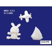 LLA-315 APLIQUE BRINQUEDOS 3X2CM C/ 2 UNIDADES