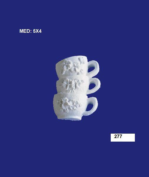 277 XICARA C/ 3 PEÇAS 05X04CM
