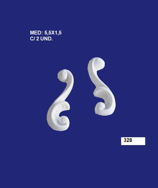 328 ARABESCO MÉDIO 5,5X1,5CM C/ 2 UND
