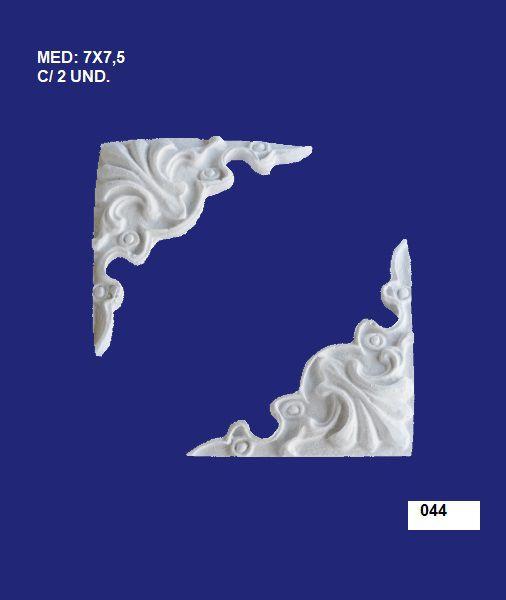 044 CANTONEIRA RETA 07X7,5CM  C/ 2 UND.