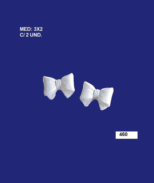 460 APLIQUE C/ 2 LAÇOS PEQ 03x02CM C/ 2 UND.