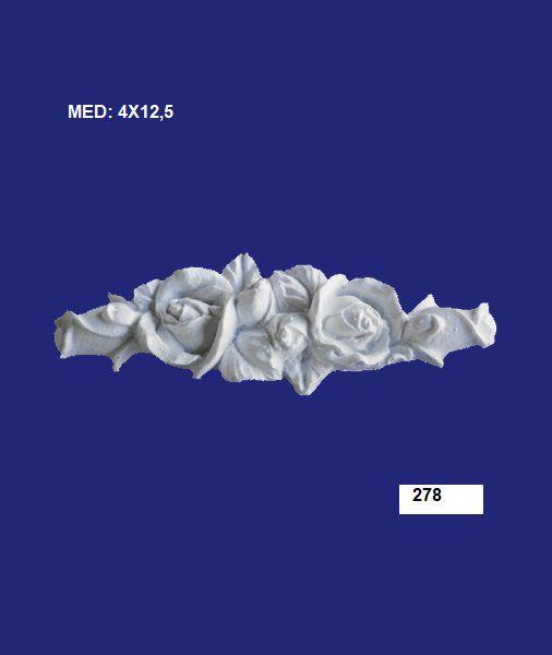 278 APLIQUE ROSA 4X12,5CM