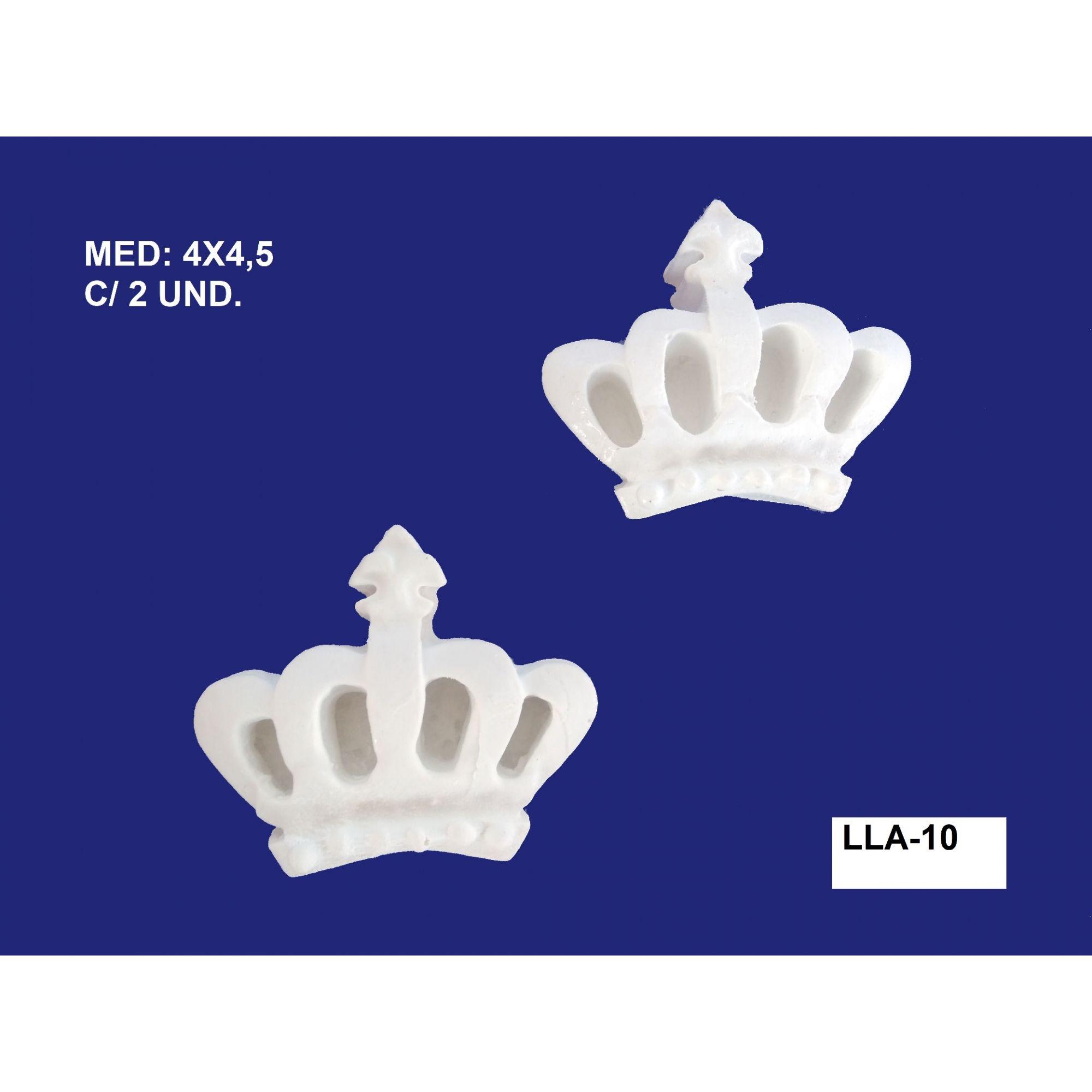 LLA-10 APLIQUE COROA 04x4,5CM C/ 2 UND.