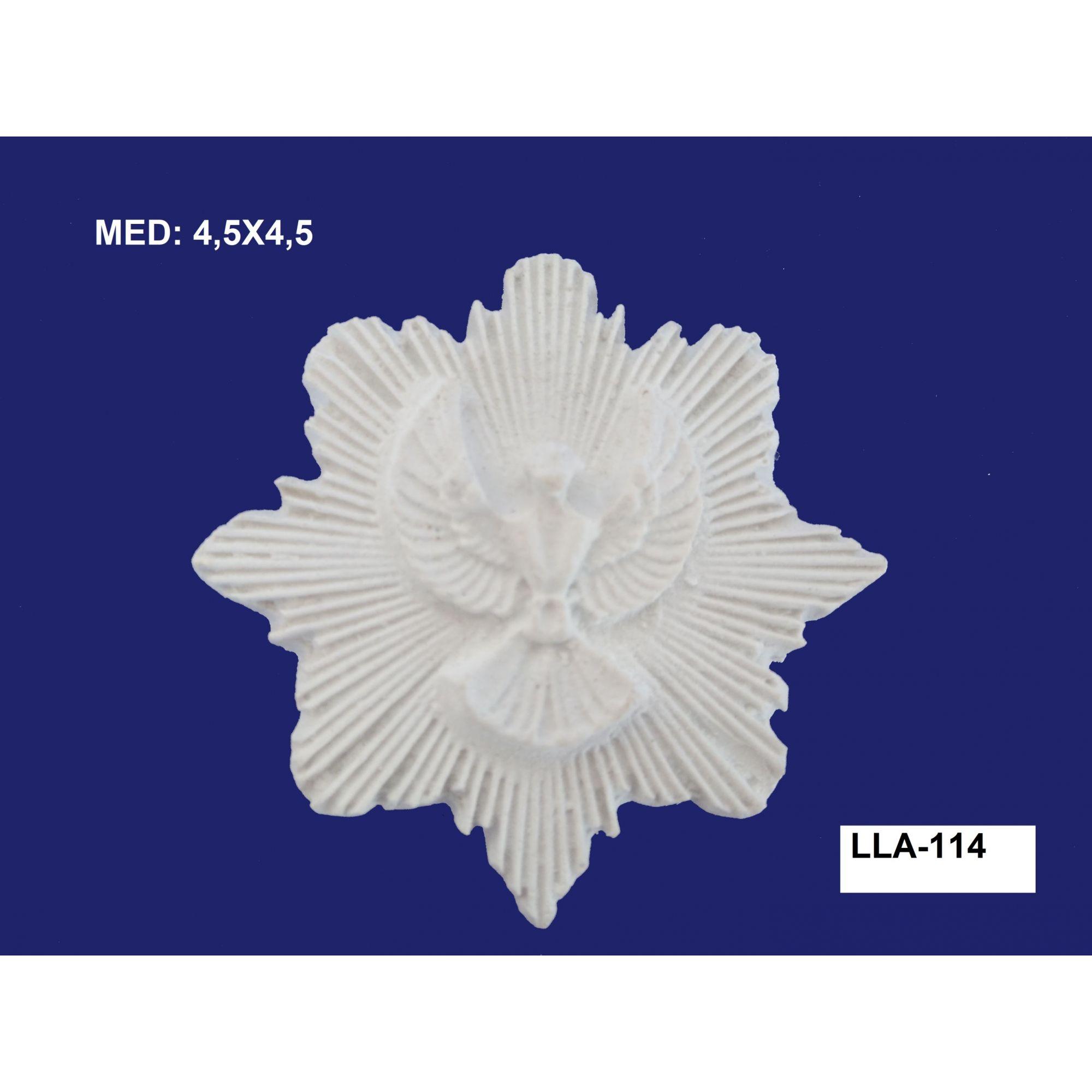 LLA-114 APLIQUE DIVINO C/ RAIO 4,5X4,5CM