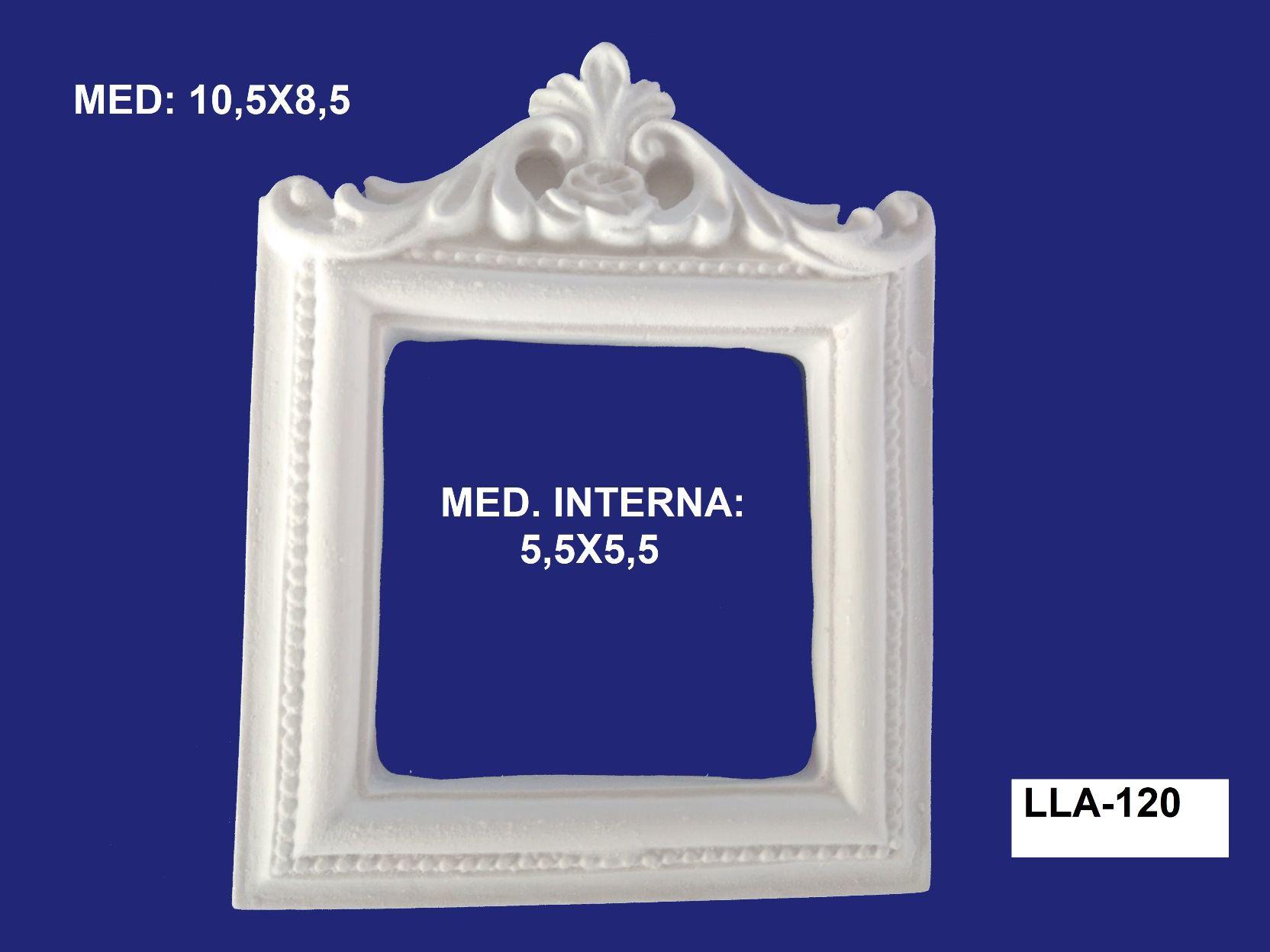 LLA-120 APLIQUE MOLDURA 10,5x8,5 INT: 5,5x5,5CM