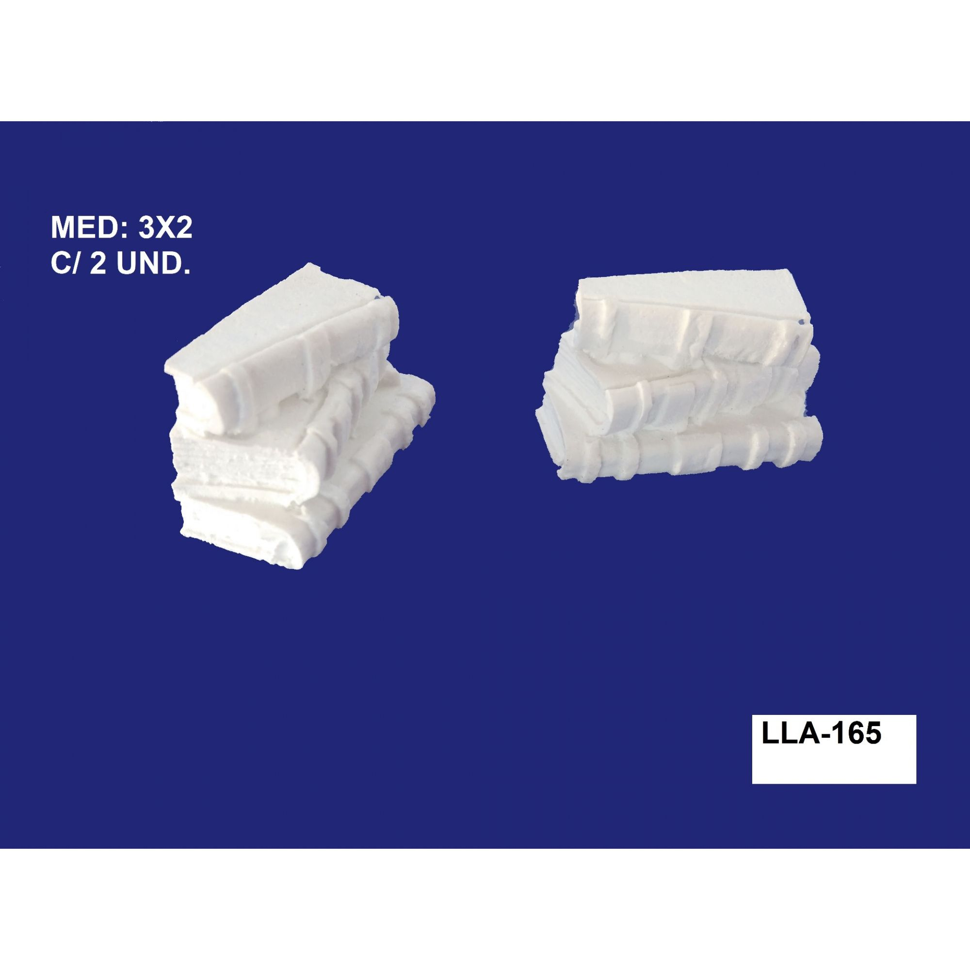 LLA-165 LIVROS 3D 03X02CM C/ 2 UND.