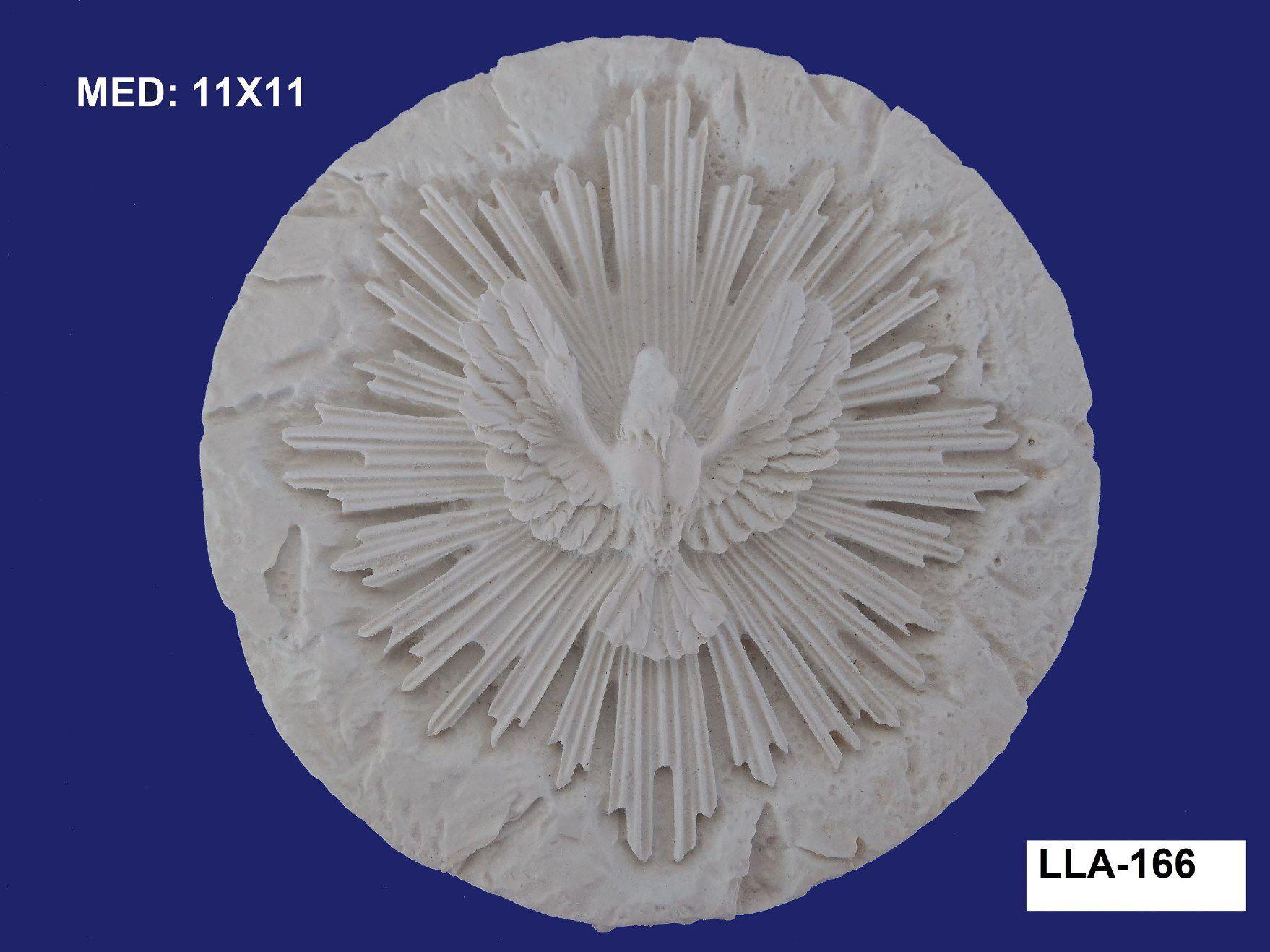LLA-166 APLIQUE DIVINO C/ RAIO 11X11CM
