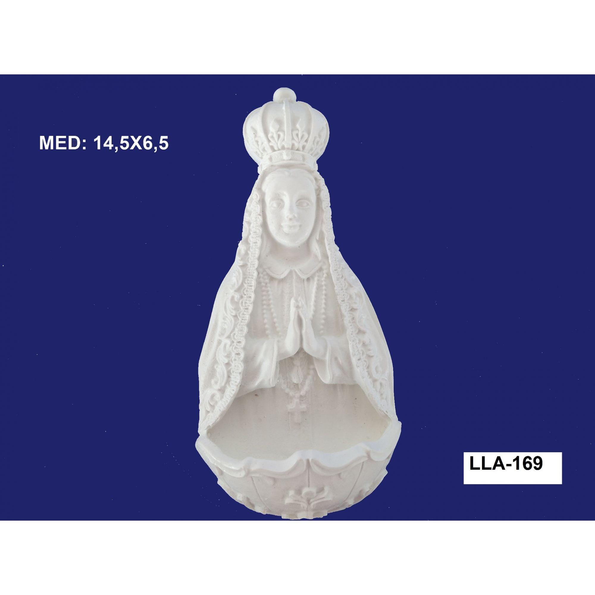 LLA-169 APLIQUE SANTA COM PIA 14,5X6,5CM