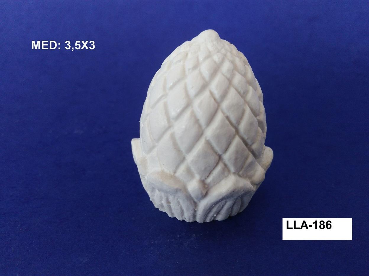 LLA-186 PUXADOR DE TAMPA PINHA 3D 3,5X03CM