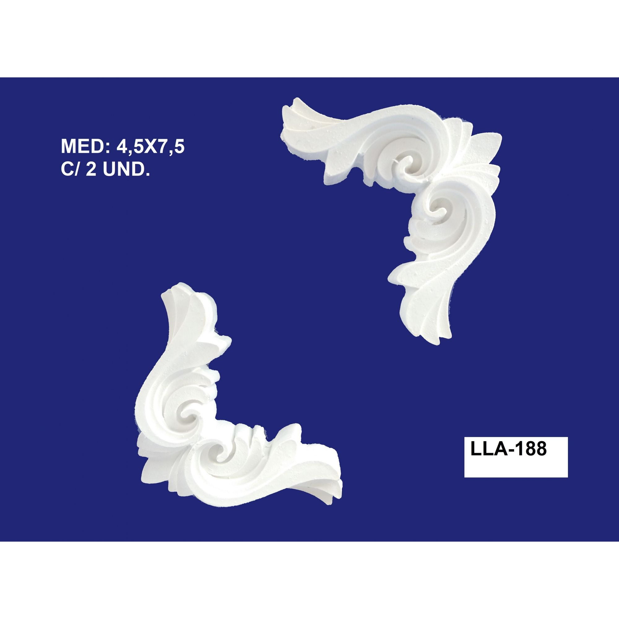 LLA-188 CANTONEIRA 4,5X7,5CM C/ 2 UND.