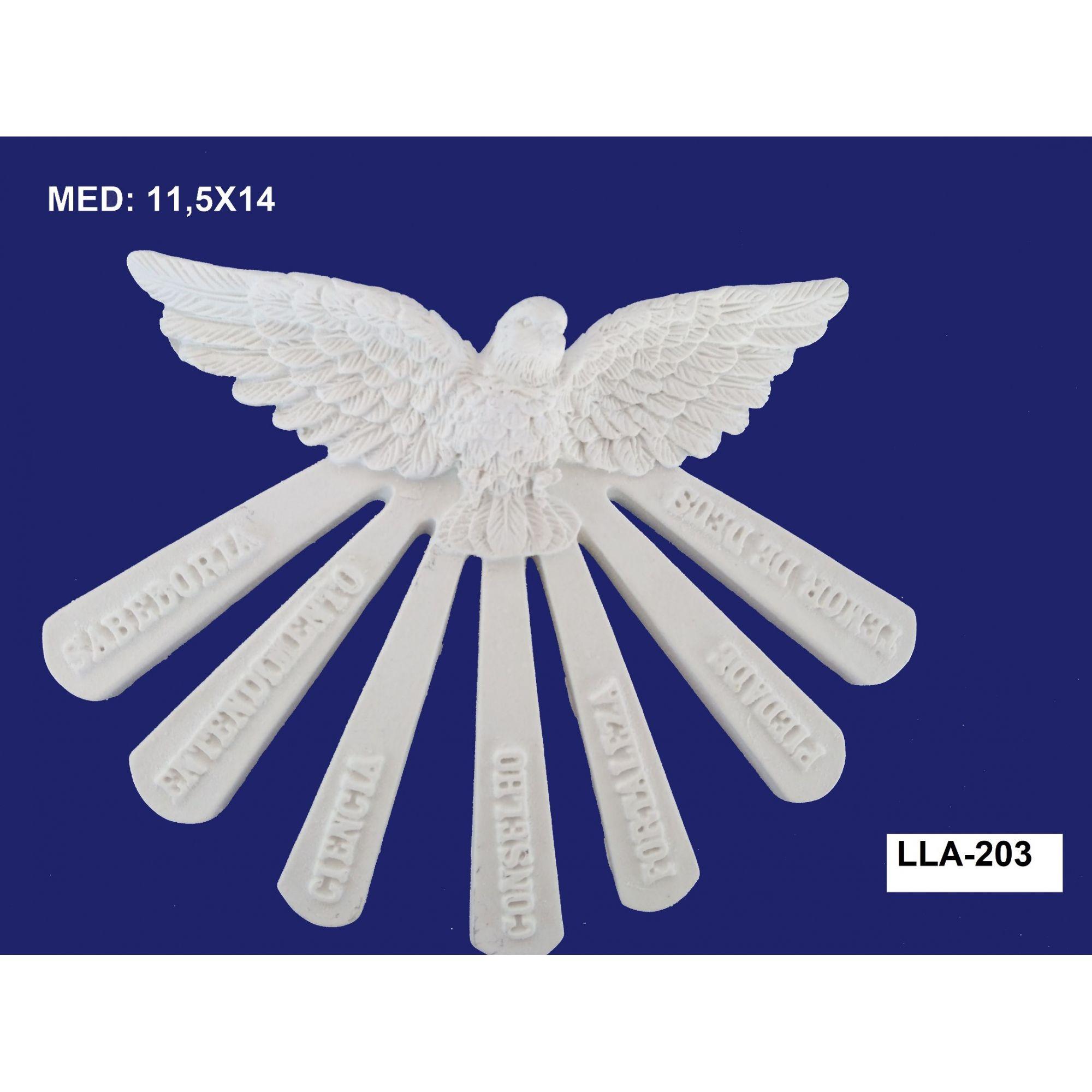 LLA-203 APLIQUE DIVINO C/ RAIO 11,5X14CM