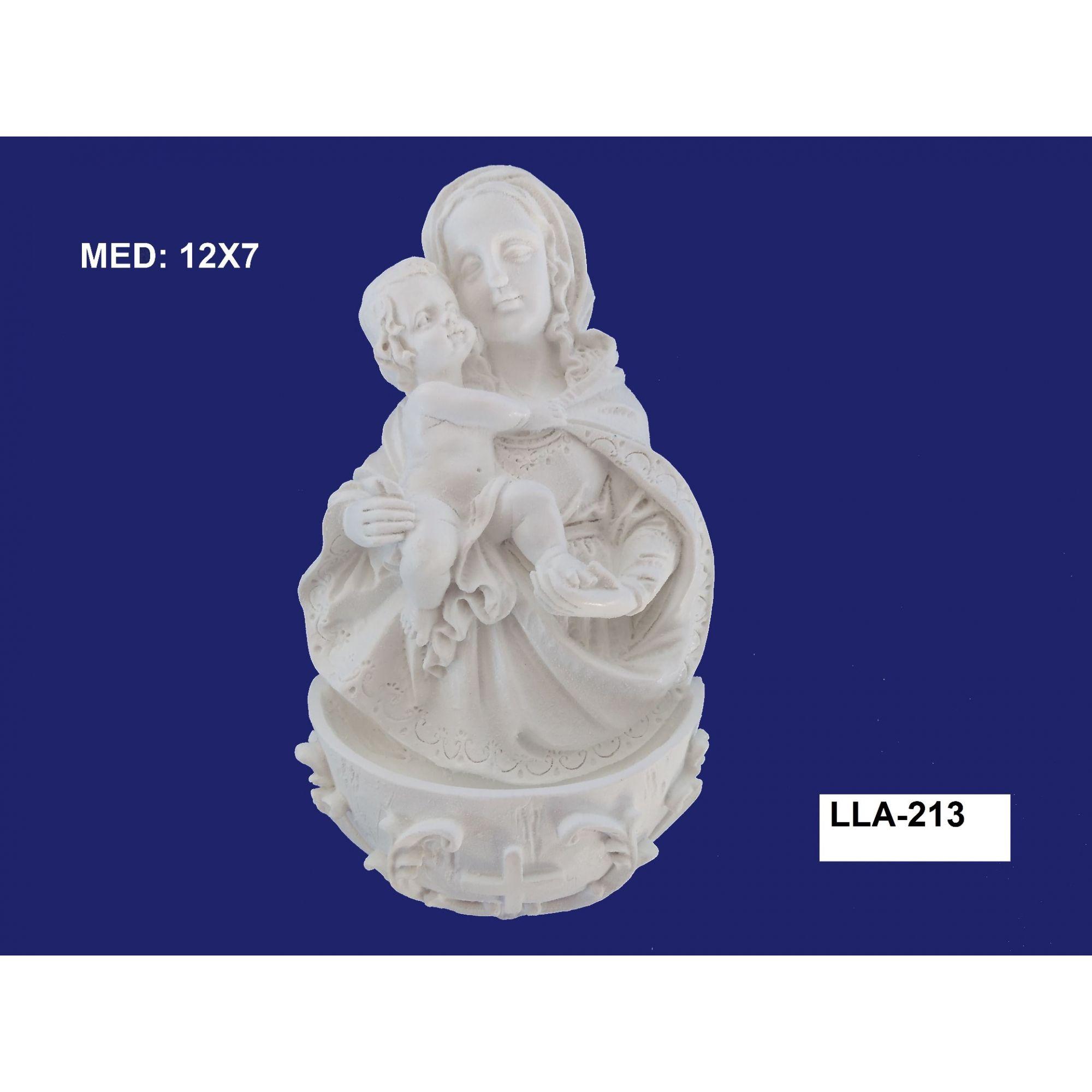 LLA-213 APLIQUE MARIA E JESUS C/ PIA 12X07CM