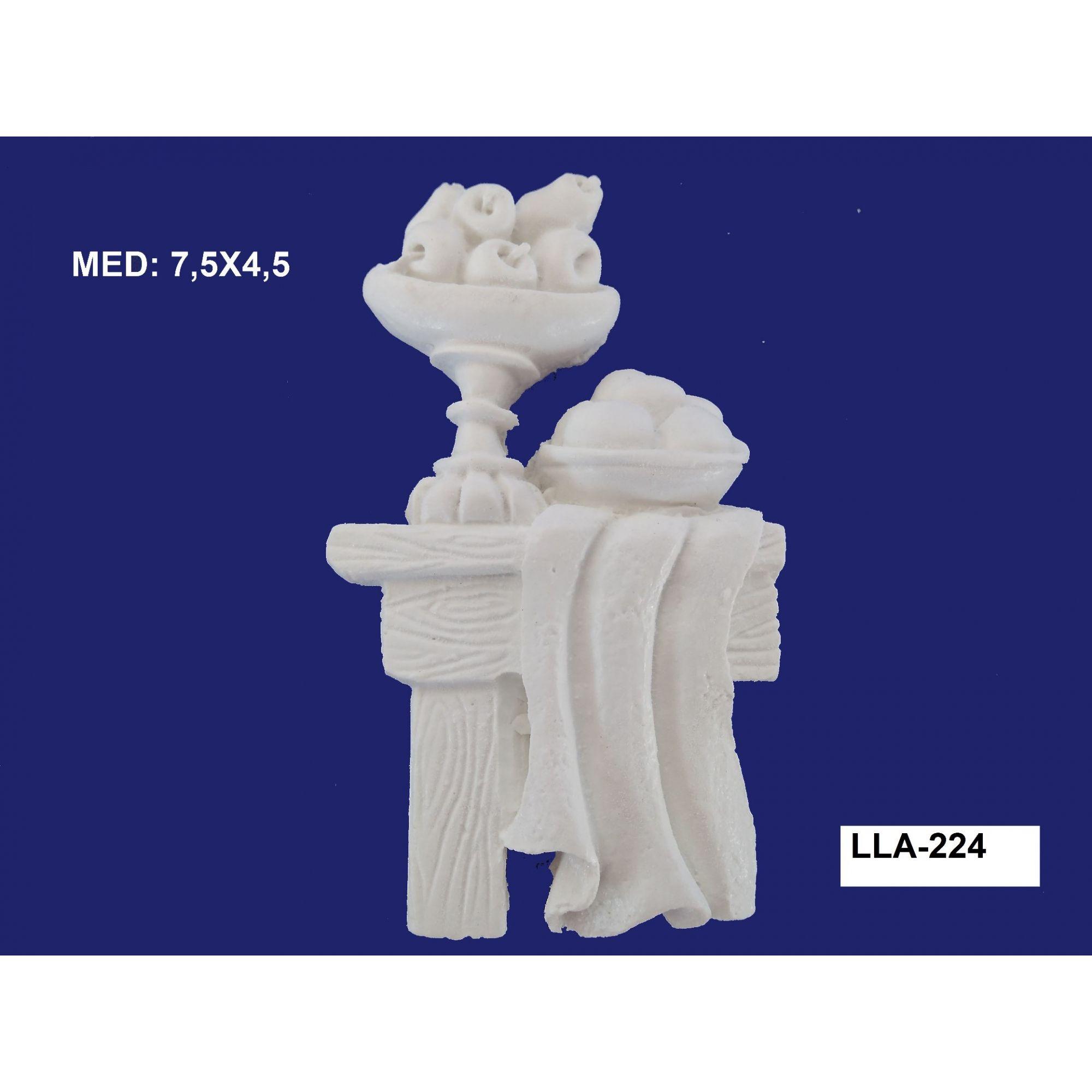 LLA-224 APLIQUE MESA C/ FRUTAS 7,5X4,5CM