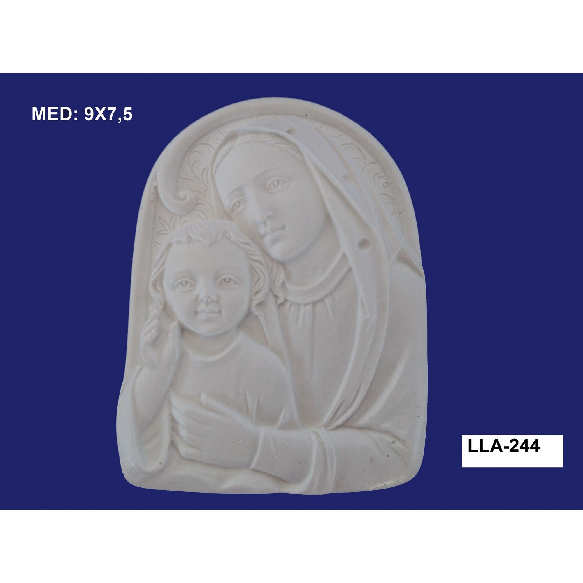 LLA-244 APLIQUE MARIA E JESUS 09X7,5CM