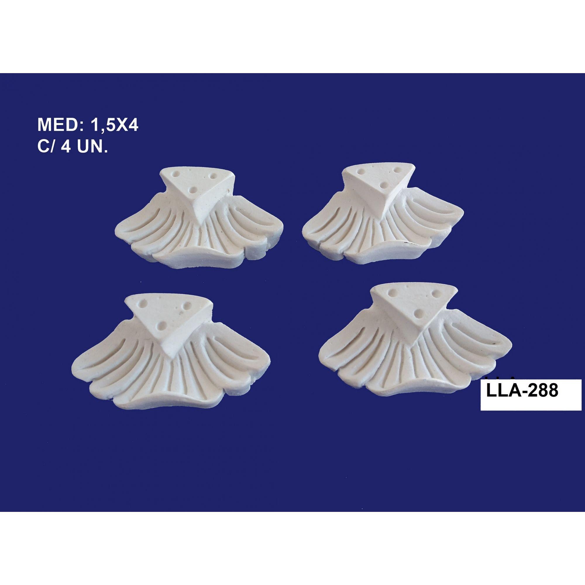LLA-288 CONJ. PÉS 4 UNIDADES 1,5X04CM