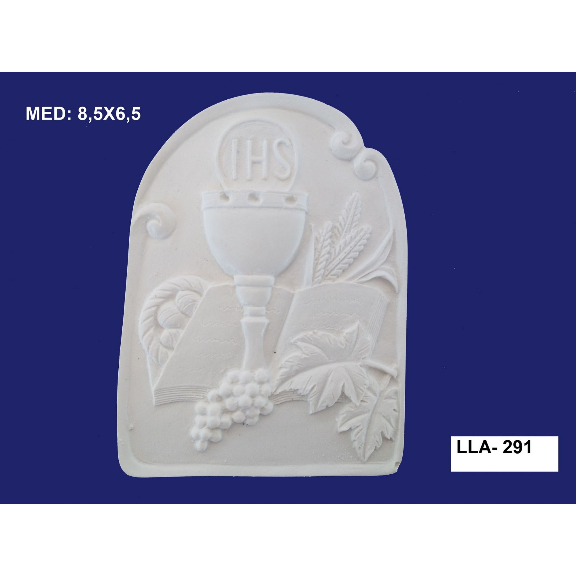 LLA-291 APLIQUE 1º COMUNHÃO 8,5X6,5CM