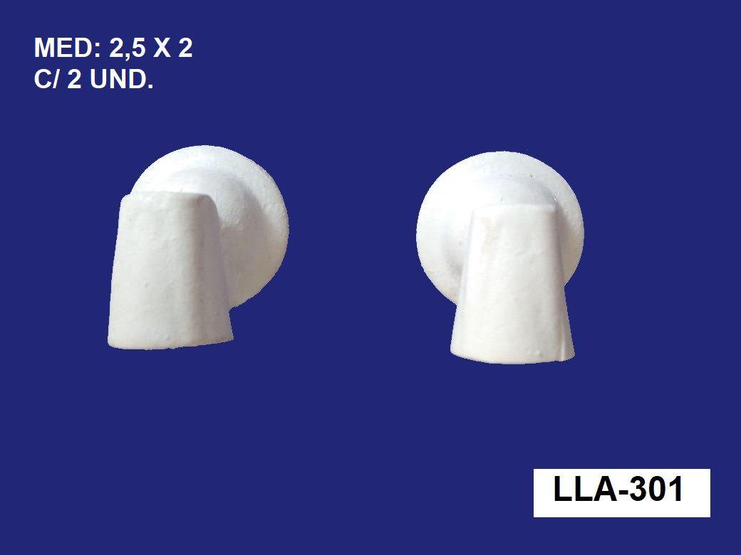 LLA-301 APLIQUE ABAJUR PARA LED 2,5X2CM C/ 2 UND.