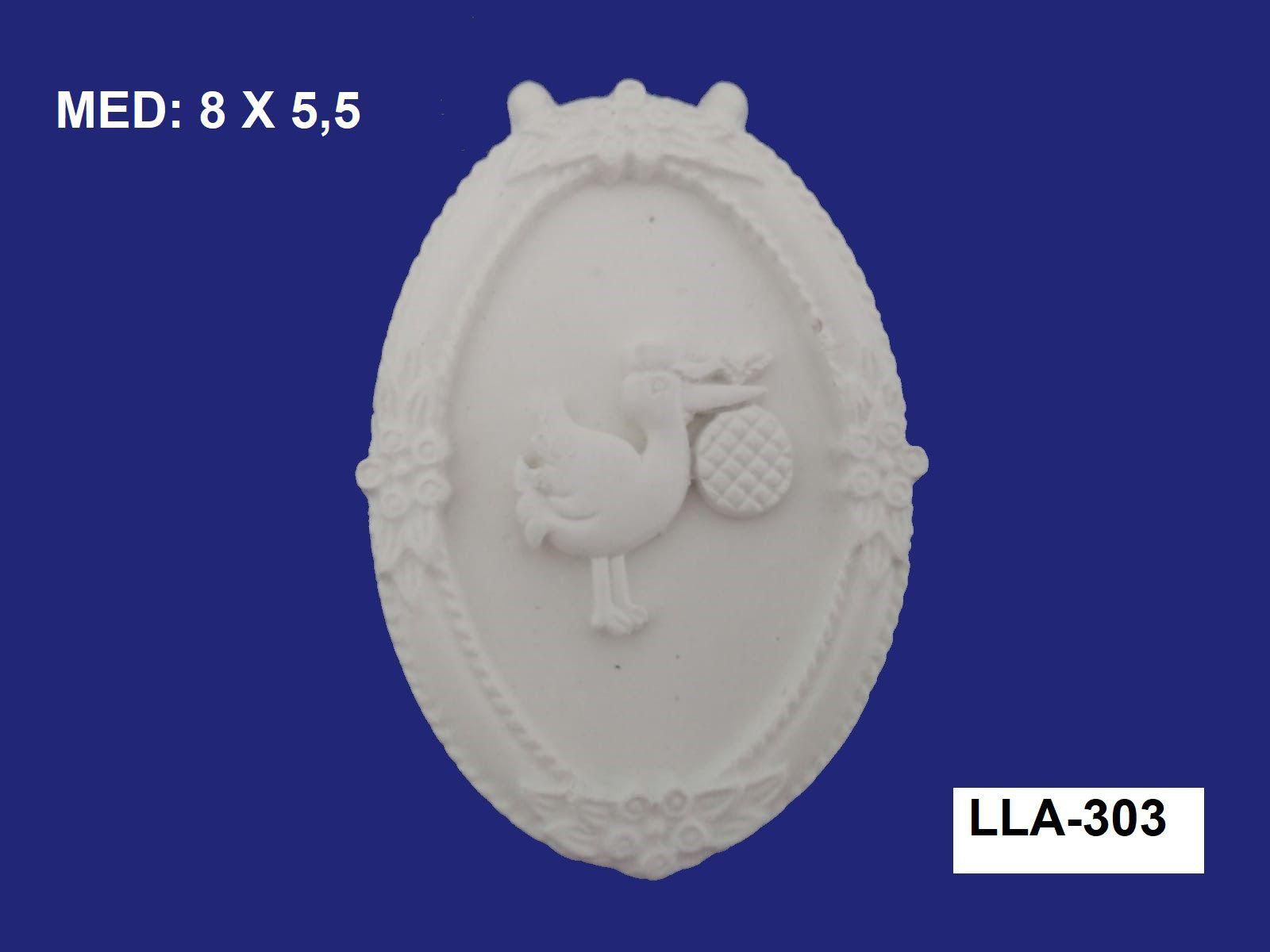 LLA-303 APLIQUE CEGONHA 8X5,5CM
