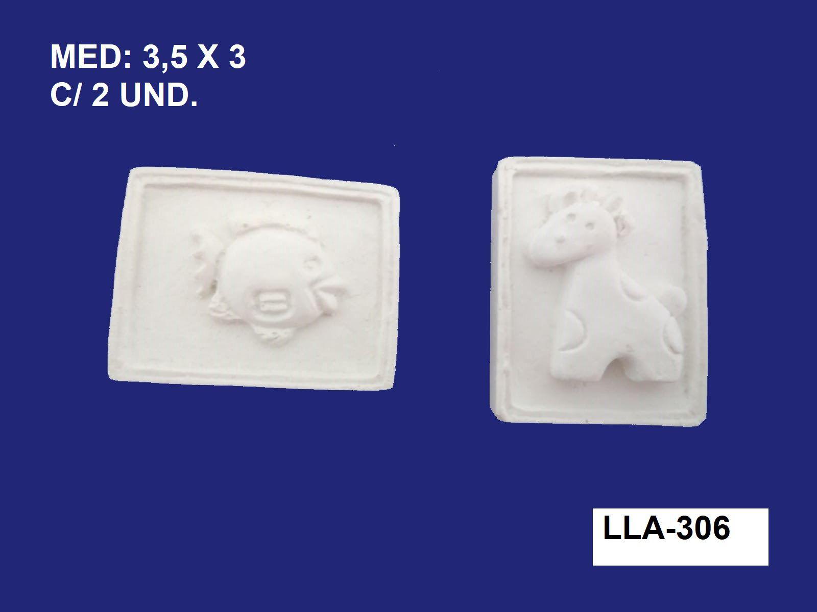LLA-306 APLIQUE ANIMAL 2,5X3CM C/ 2 UND.