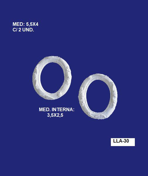 LLA-30 MOLDURA PEQ REDONDA 5,5X04 INT: 3,5X2,5 C/2 UND