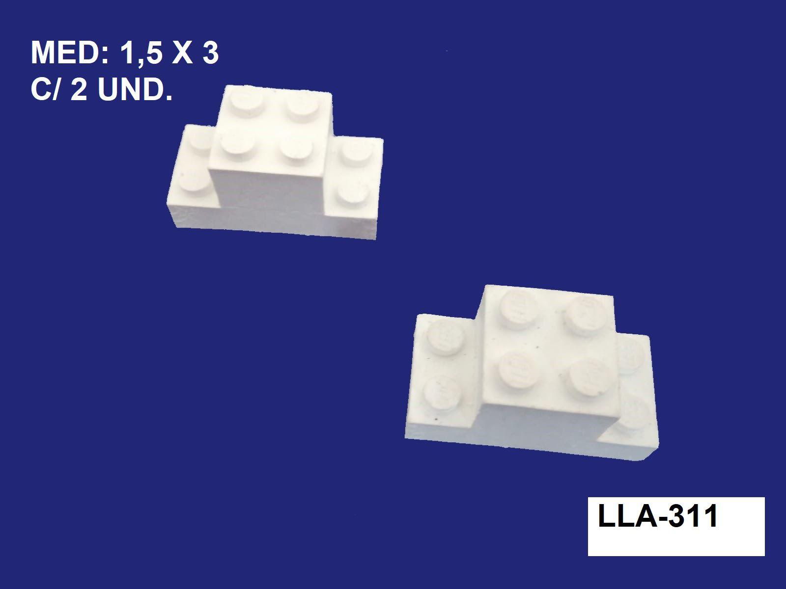 LLA-311 APLIQUE LEGO 1,5X3CM C/ 2 UND.