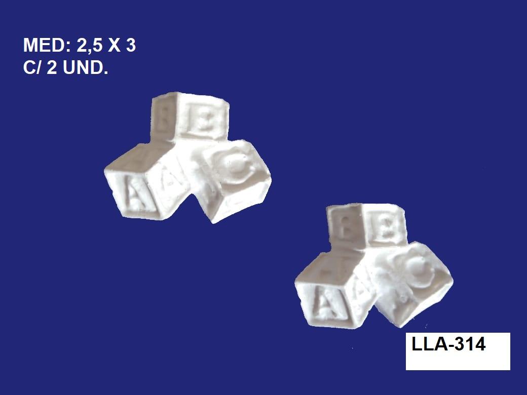 LLA-314 APLIQUE DADO 2,5X3 C/ 2 UNIDADES