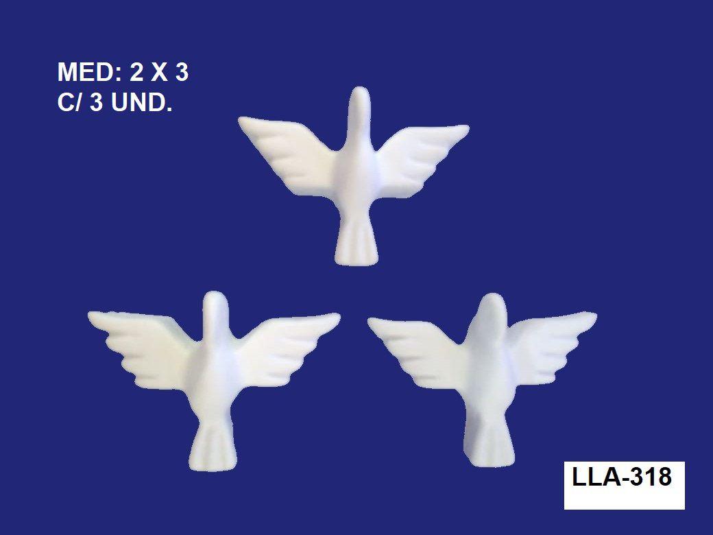 LLA-318 APLIQUE MINI DIVINOS 2X3CM C/ 3 UND.
