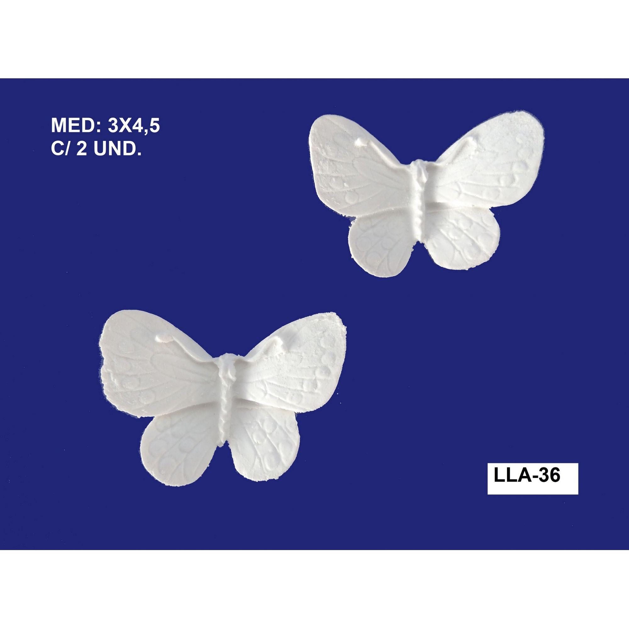 LLA-36 BORBOLETA 03X4,5CM C/2 UND.