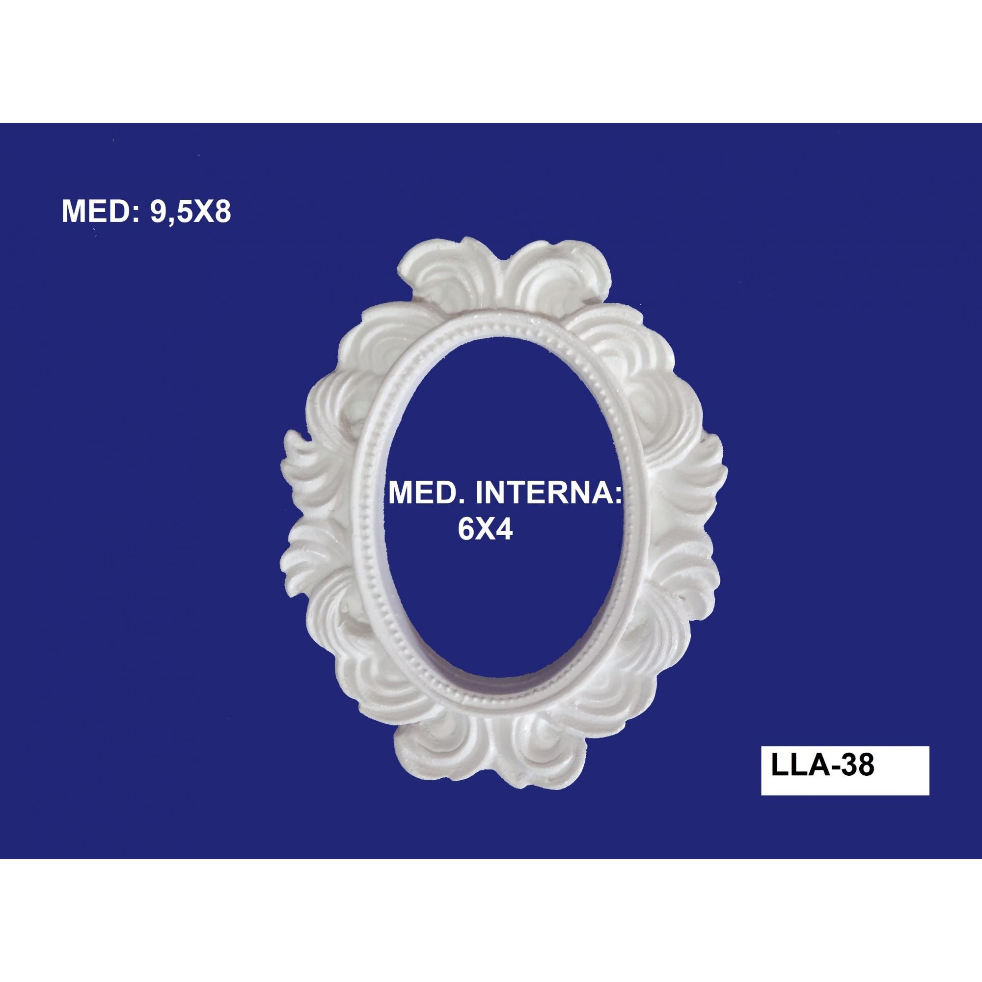 LLA-38 APLIQUE MOLDURA 9,5X08 INT: 06X04CM