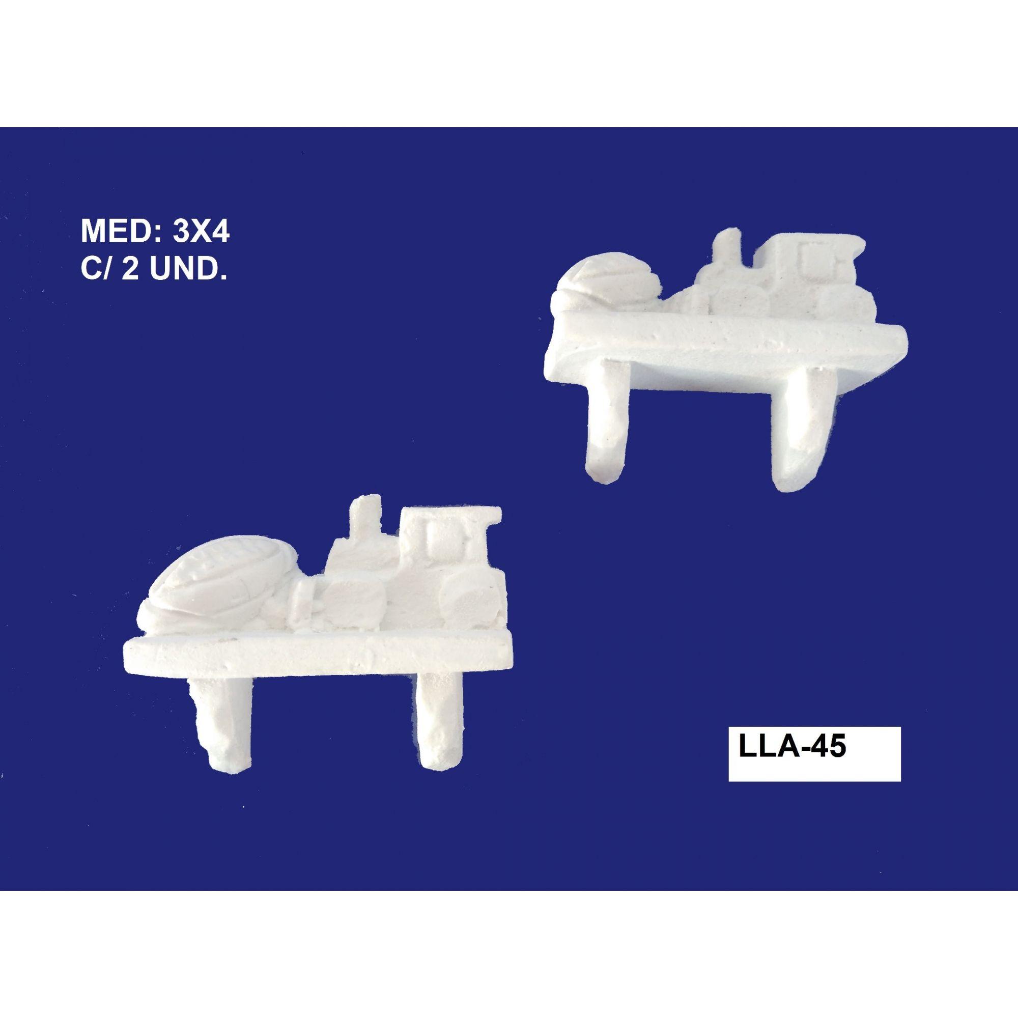 LLA-45 APLIQUE PRATELEIRA 03X04CM C/ 2 UND.