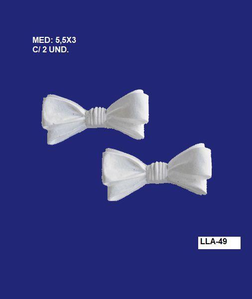 LLA-49 APLIQUE LAÇO 5,5X03CM C/ 2 UND.