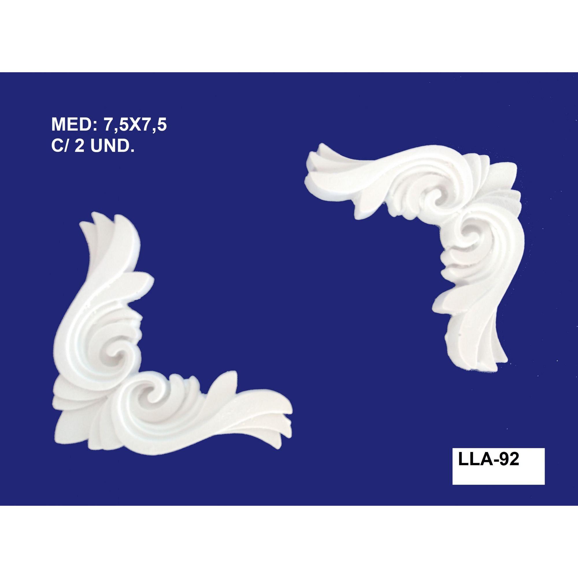 LLA-92 CANTONEIRAS 7,5X7,5CM C/ 2 UND.