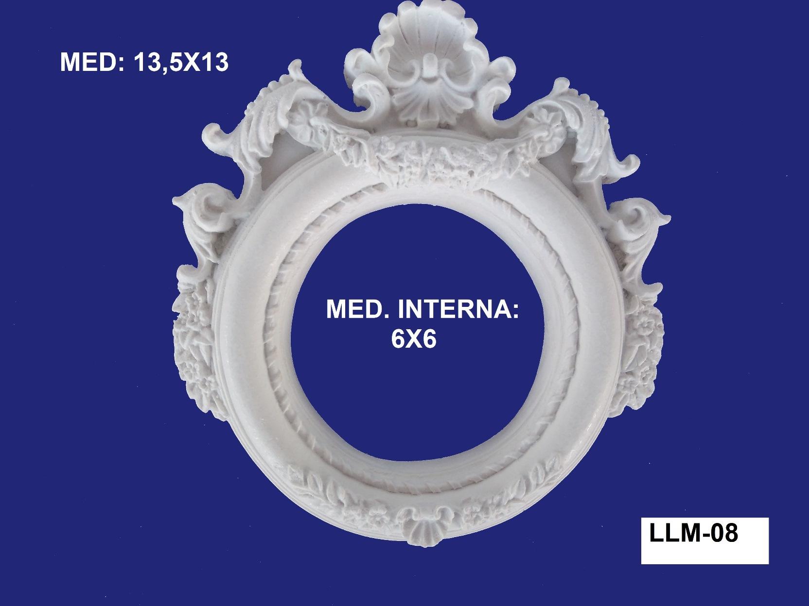 LLM-08 MOLDURA DE RESINA 13,5X13CM INT:6X6CM