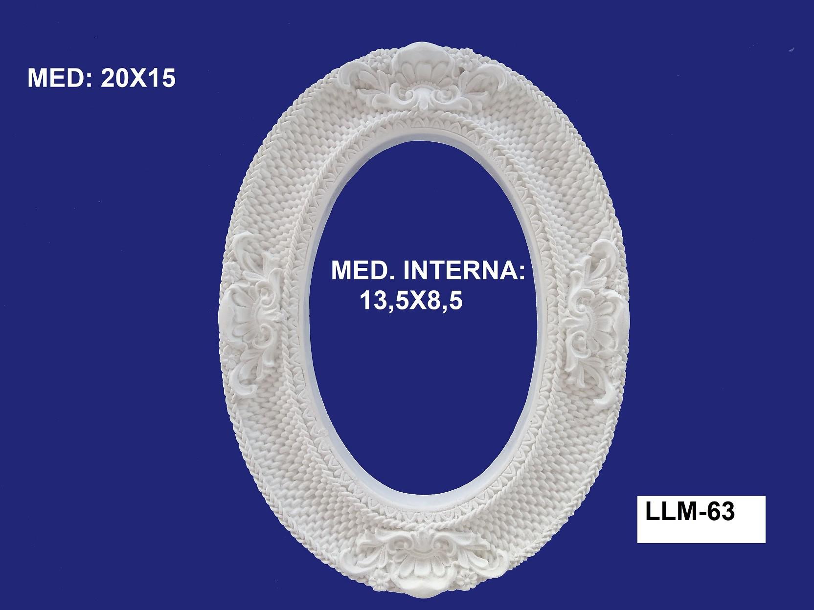 LLM-63 MOLDURA 20X15 INT: 13,5X8,5CM