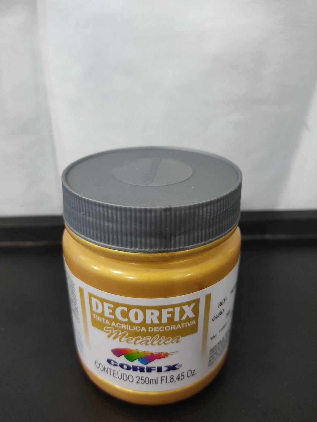 TINTA DECORFIX METÁLICA OURO 250ml - Ref 393