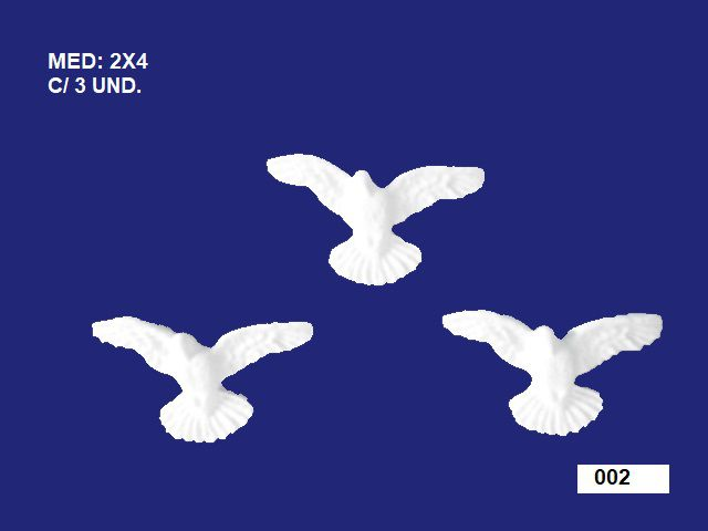 002 TRIO DIVINO MINI 02x04CM C/ 3 UND.