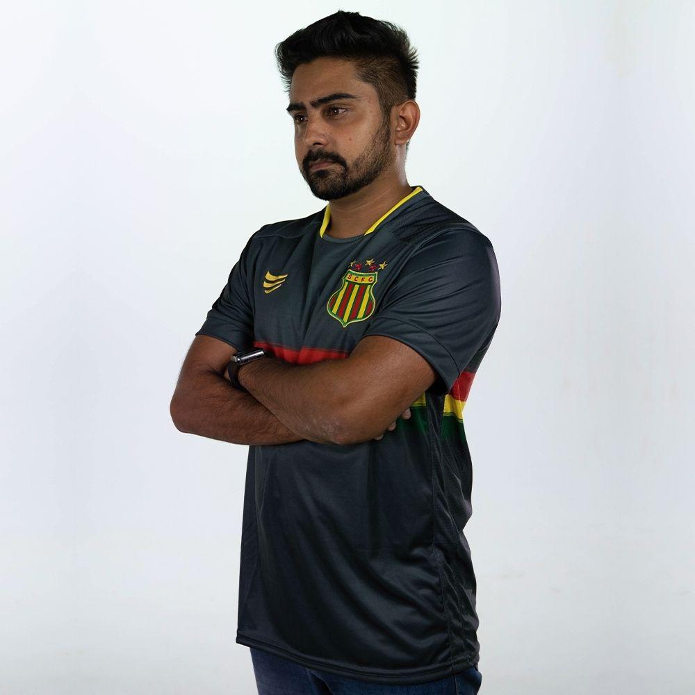 Camisa Oficial Sampaio Corrêa Goleiro Cinza 2021 Masculina