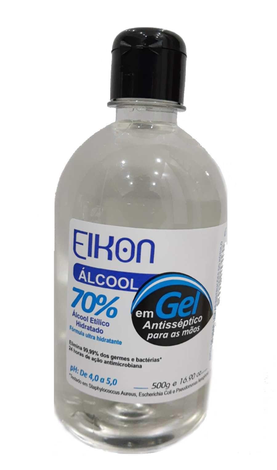 Álcool em Gel 500g Antisséptico Bactericida Sanitização
