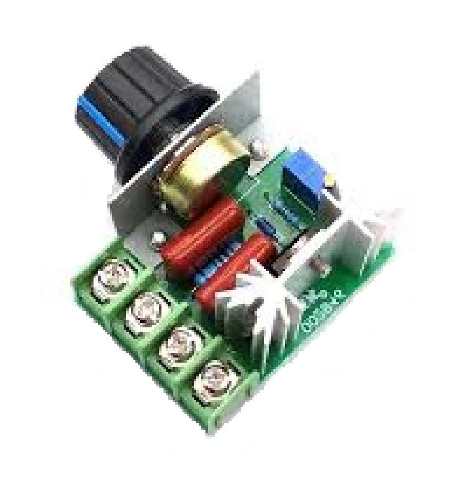 Dimmer Regulador Velocidade 2000w 110-220v Ac