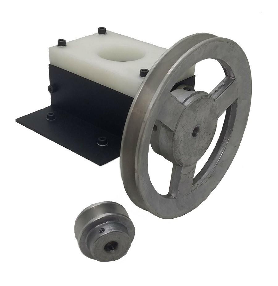 Moedor de Malte 2 Rolos (modelo Albc) com Kit polia 50mm e 170mm
