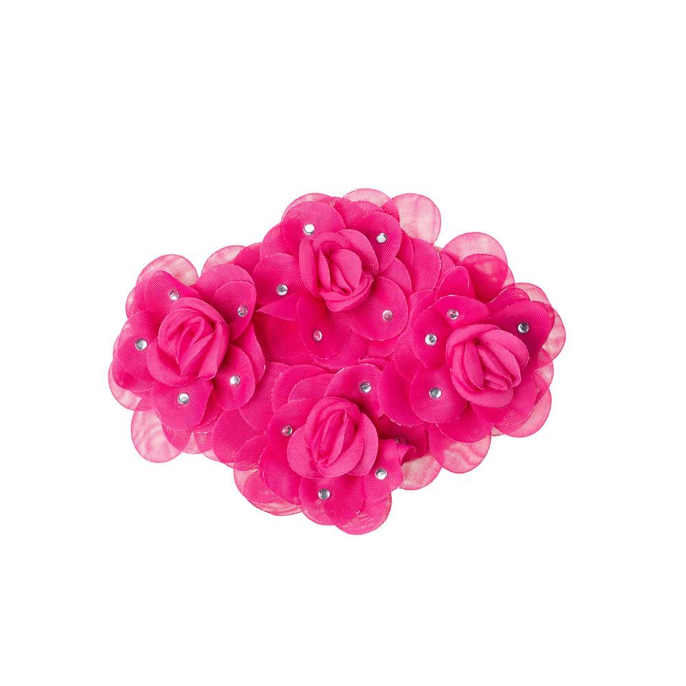 Presilha Casquete com Flores e Strass