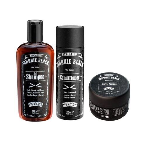 Shampoo 3x1 + Conditioner + Matte Pomade - Johnnie Black