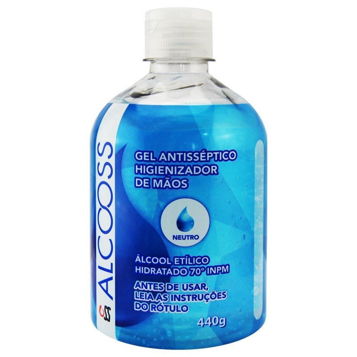 Kit c/ 6 Alcool Gel 70% - 440g - com Anvisa